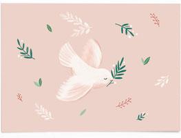 Postkarte Taufe - rosa