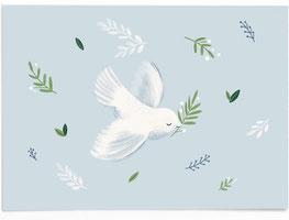 Postkarte Taufe - blau