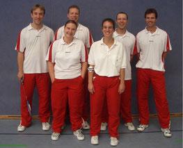 1.Mannschaft v.l.: Thomas Jörgens, Anja Honrath, Ulli Honrath, Judith Bienen, Stephan Röder und Michael Backhaus