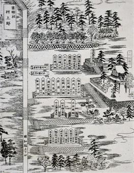 霊明神社西墓地の明治40年頃の様子