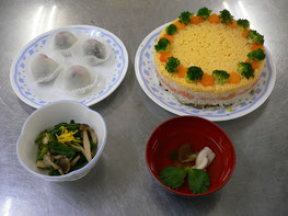 ケーキ寿司 献立レシピ 1
