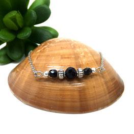 Bracelet bohèmes SOLAL perles noires Manoléo Fantaisies fait main bassin d'arcachon
