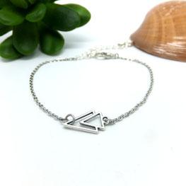 Bracelet AXEL, bracelet fin bohème graphique fait main bassin d'arcachon