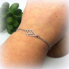 AXEL Bracelet fin bohème triangle Manoléo Fantaisies fait main bassin d'arcachon