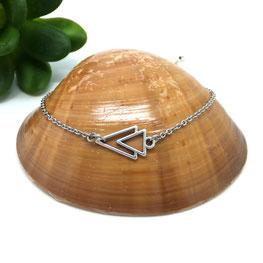 Bracelet AXEL, bracelet minimaliste bohème triangle fait main bassin d'arcachon
