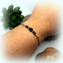 Bracelet fin bohème perles SOLAL Manoléo Fantaisies fait main bassin d'arcachon