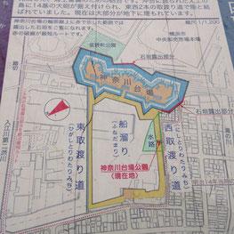 神奈川台場の地図