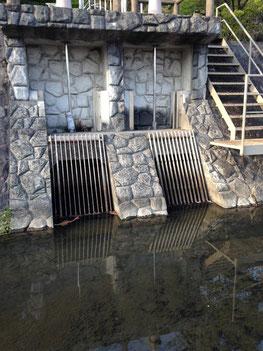 用水に設けられた水門