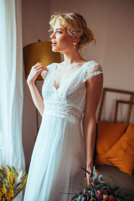 robe de mariée Ombeline par Elsa Gary fabrication française
