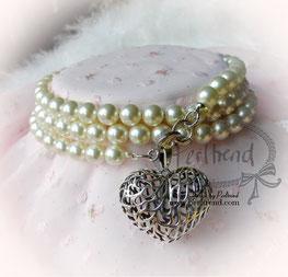Halsschmuck Cream Pearls lang