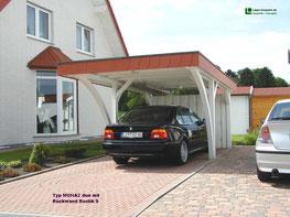 Carport mit Schieferblende Foto