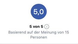 Super Bewertungen bei Facebook von meinen Kunden