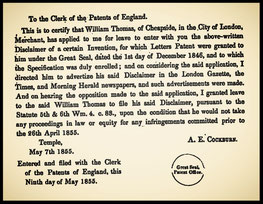 1855 Thomas' Disclaimer