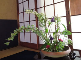 Kyoto flower arrangement tea ceremony