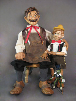 "For 40"" Geppetto & 24"" Pinocchio Click on Photo."