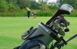 Krawatte Golfspieler, Golfschläger, Bälle  - von Feld GmbH aus Krefeld