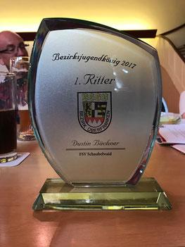 Bezirksvizejugendkönig 2017 - Dustin Büchner