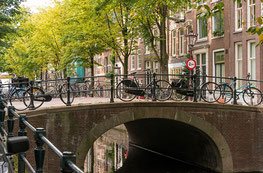 An old bridge on the canals in Amsterdam