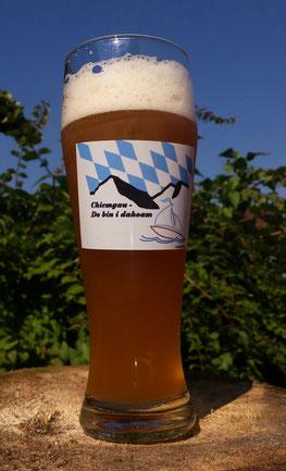 Chiemwelt Tasse, weiß mit Motiv / Logo bedruckt