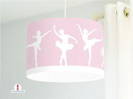 Deckenlampe fürs Kinderzimmer und Mädchen mit Ballerinas in Rosa aus Baumwolle