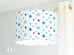 Kinderlampe mit Sternen aus Baumwollstoff