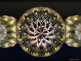Willowlamp Mandala Kronleuchter modern african avantgarde