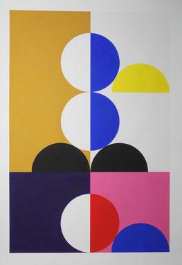Ellen Roß konkrete Kunst, squares, circles