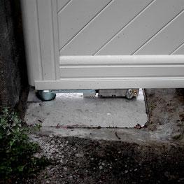 Motorisation enterrée pour portail battant