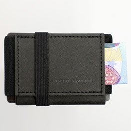 Kleines Portemonnaie schwarz mit Schein