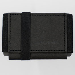 Mini Portemonnaie schwarz Handarbeit made in Germany