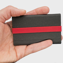 Kartenetui schwarz/rot Kreditkartengröße klein leicht