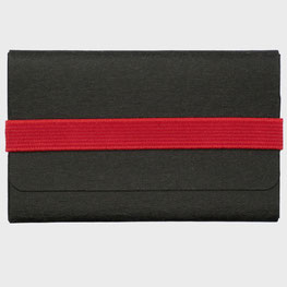 student wallet Kleines Kreditkartenhalter schwarz rot Papierleder