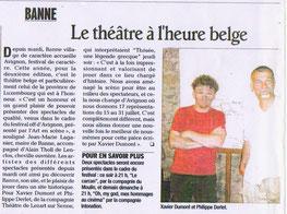 Thésée au Festival de Banne en Ardèche