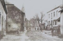 Um 1904 - links die 1. Rollinger Schule
