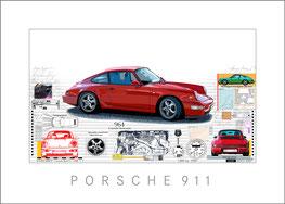 Porsche 911 rot vom Künstler Leslie G. Hunt