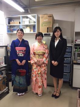 小野澤さん、新木さん、廿楽さん修了おめでとうございます。