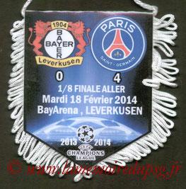 Fanion  Bayer Leverkusen-PSG  2013-14