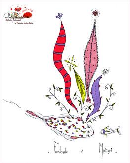 """Illustration réalisée par l'illustratrice Cloé Perrotin qui fut le début du projet de livre """"Faribole et Mistigri"""""""