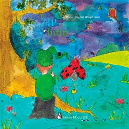 """Couverture du livre jeunesse fantastique """"Zip le lutin"""" réalisée par l'illustratrice Cloé Perrotin"""