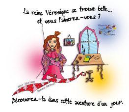 """Dos de couverture de l'e-book """"Reine d'un jour"""" _ 1ère version parue chez La Librairie Virtuelle Pour Enfants"""