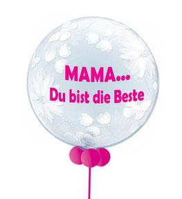 Luftballon Ballon Muttertag Vatertag Dekoration Geschenk Bubble personalisiert individuell beschriftet Mama Mami du bist die Beste Heliumballon versenden Versand verschenken schicken