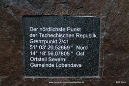 Tafel auf der deutschen Seite
