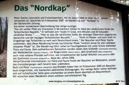 Infotafel am Nordkap / Hohwald