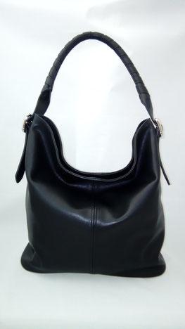 sac seau sac bourse en cuir noir fabriqué en France en trés petite série