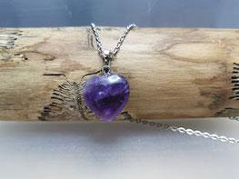 Halskette mit Amethyst Herz