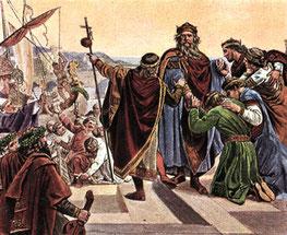 Barbarossas Abschied vor seiner Kreuzfahrt 1189