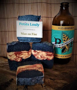 Petits Louly, Etsy Québec, Savon hommes, Man on fire