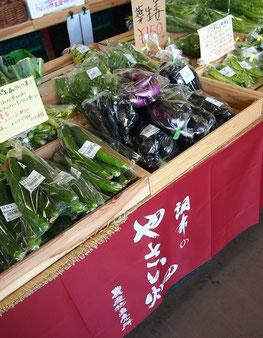 ●地元の三ツ木農園で採れた都市型野菜。NHKの「キッチンが走る」で紹介されたこともあります