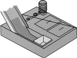 Magnetischer Rutschförderer mit Kühlmittelbehälter