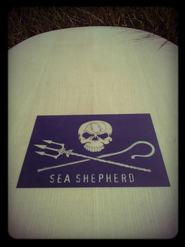 As a supporter of the Sea Shepherd, Matthias runs their flag up.
